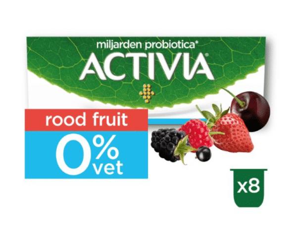 Activia Yoghurt 0% Aardbei-Framboos-Kers-Bosvruchten Hopr online supermarkt