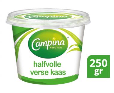 Campina halfvolle verse kaas 250gr Hopr online supermarkt