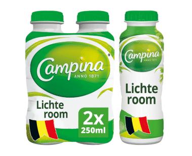 Campina lichte room 2x250ml Hopr online supermarkt