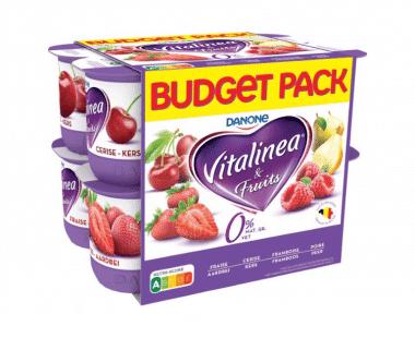 Vitalinea Yoghurt 0% Aardbei-Framboos-Kers-Peer Hopr online supermarkt