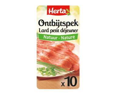 HERTA Ontbijtspek Natuur 10 Sneden Hopr online supermarkt