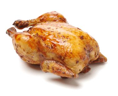 Kip aan het spit 1