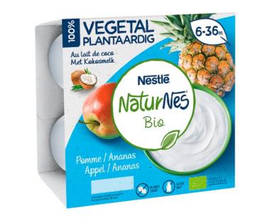 NaturNes Bio Appel / Ananas 6-36M 4x90g Hopr online supermarkt