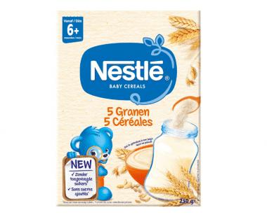 Nestlé Baby Cereals 5 Granen vanaf 6 Maanden 250g Hopr online supermarkt