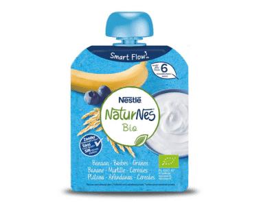 Nestlé NaturNes Bio Banaan - Bosbes - Granen vanaf 6 Maanden 90g Hopr online supermarkt