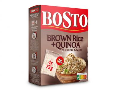 Bosto Brown rice/Quinoa/Granen kookbuiltjes 4x75g Hopr online supermarkt