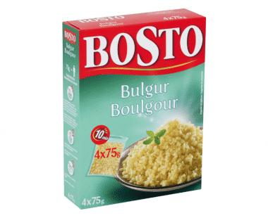 Bosto Bulgur kookbuiltjes 4x75g Hopr online supermarkt