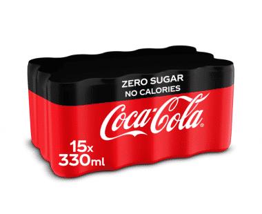 COCA-COLA ZERO 15x33cl Hopr online supermarkt