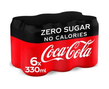 COCA-COLA ZERO 6x33cl Hopr online supermarkt