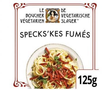 De Vegetarische Slager Vegetarische spekjes Specks'kes Fumés 125g Hopr online supermarkt