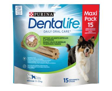 Dentalife M Hond medium loyalty pack hondensnack 345g Hopr online supermarkt