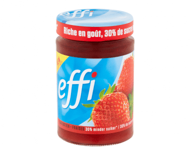 Effi konfituur aardbei 350ml Hopr online supermarkt