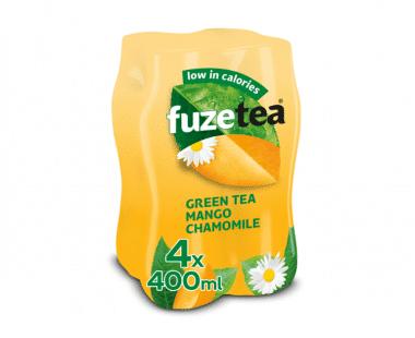 FUZE TEA GREEN TEA MANGO CHAMOMILE 4x0