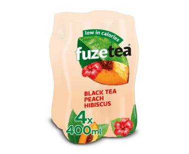 FUZE TEA PEACH HIBISCUS 4x0