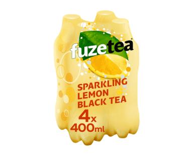 FUZE TEA SPARKLING LEMON 4x0