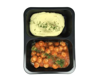 Gehaktballetjes in tomatensaus met puree 550g Hopr online supermarkt