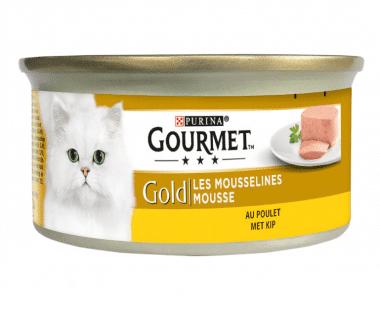 Gourmet Gold Kat fijne mousse kip 85g Hopr online supermarkt