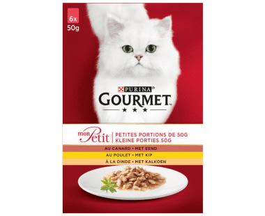 Gourmet Mon Petit Kat gevogelte 6x50g Hopr online supermarkt