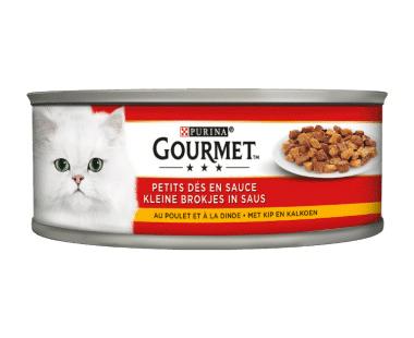 Gourmet Multi Serve Kat kleine brokjes met kip en kalkoen 195g Hopr online supermarkt