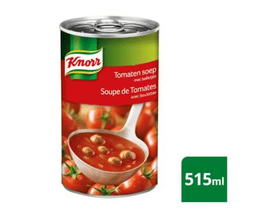 Knorr Blik Soep Tomaten en balletjes 515ml Hopr online supermarkt