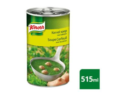 Knorr Blik Soep Kervel en balletjes 515ml Hopr online supermarkt
