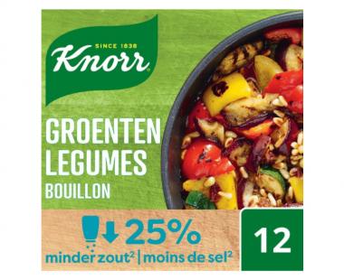 Knorr Bouillon met laag zoutgehalte Groenten 108g Hopr online supermarkt