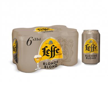 Leffe Blond blik 6X33cl Hopr online supermarkt
