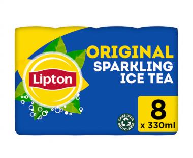 Lipton Ice Tea Bruisend Ice Tea Original 8x33cl Hopr online supermarkt