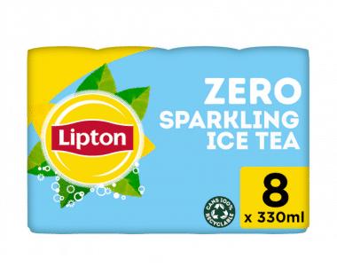 Lipton Ice Tea Bruisend Ice Tea ZERO sugar 8x33cl Hopr online supermarkt