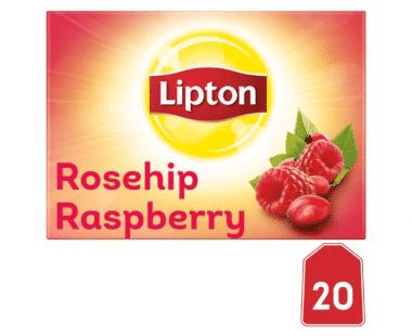 Lipton Kruidenthee Rozenbottel Framboos 20 theezakjes Hopr online supermarkt