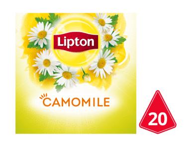 Lipton Pyramides Kruidenthee Kamille 20 theezakjes Hopr online supermarkt