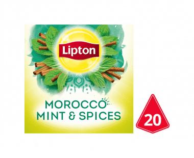 Lipton Pyramides Kruidenthee Marokko Munt 20 theezakjes Hopr online supermarkt
