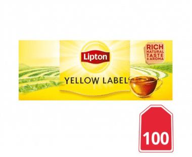 Lipton Zwarte Thee Yellow Label 100 stuks Hopr online supermarkt