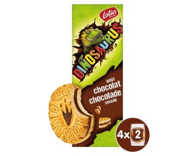 Lotus Dinosaurus gevuld met chocolade 4x2stuks Hopr online supermarkt