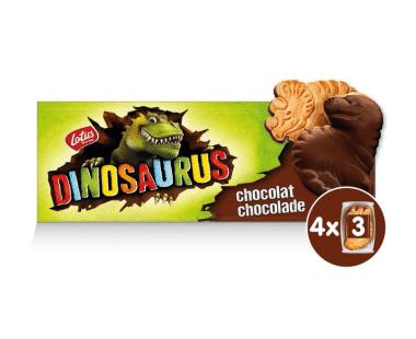 Lotus Dinosaurus met chocolade 4x3stuks Hopr online supermarkt
