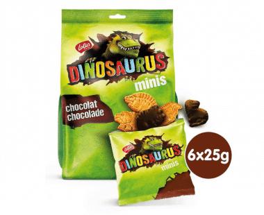 Lotus Dinosaurus minis met chocolade 6x25g Hopr online supermarkt
