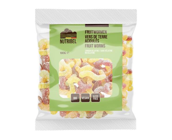 Nutridia Fruitwormen bio 100g Hopr online supermarkt
