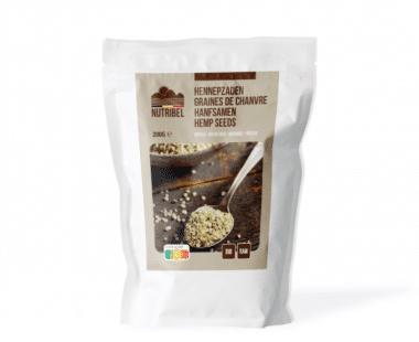 Nutridia Hennepzaad gepeld bio & raw 200g Hopr online supermarkt