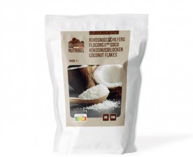 Nutridia Kokosnoot schilfers bio & raw 200g Hopr online supermarkt