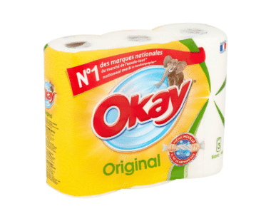 Okay original keukenrol wit 3 stuks Hopr online supermarkt