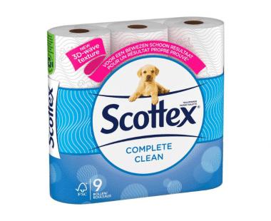 Scottex complete clean toilet WC papier 9 rollen Hopr online supermarkt