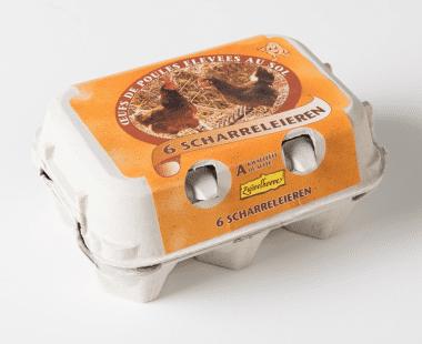 Verse scharreleieren 6 stuks Hopr online supermarkt